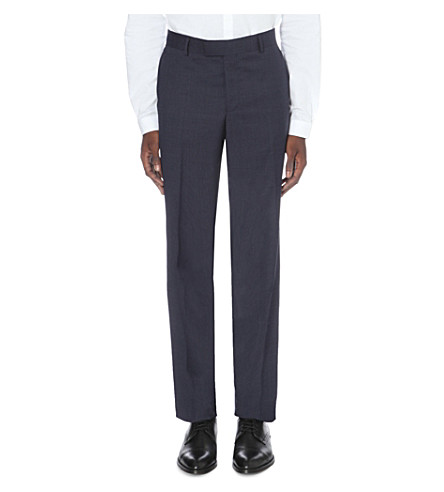 THE KOOPLES Houndstooth classic-fit wool pants (Grey+blue