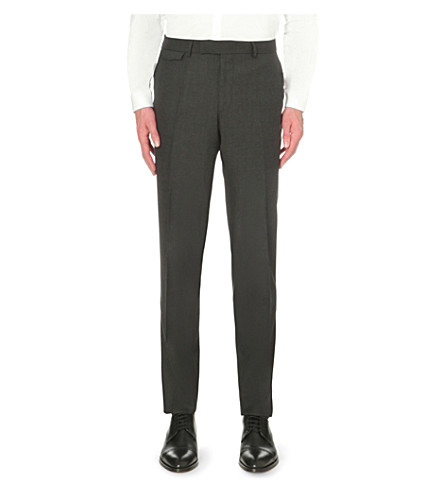 THE KOOPLES Slim-fit tapered wool pants (Grey