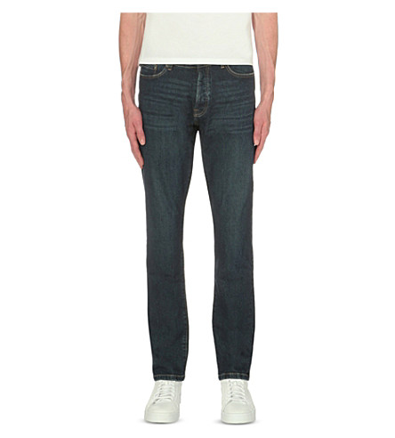 THE KOOPLES Regular-fit tapered jeans (Blue+washed