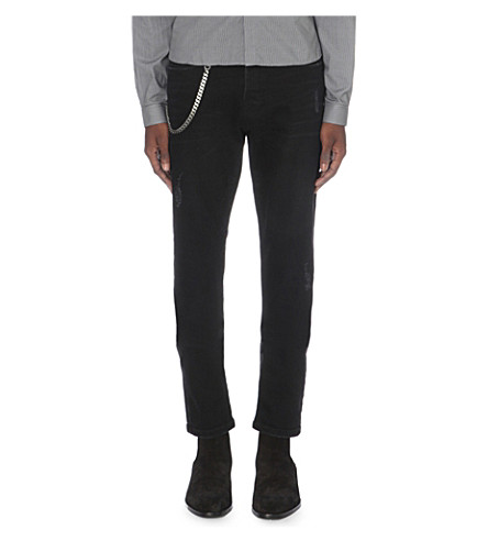 THE KOOPLES Fitted tapered jeans (Black