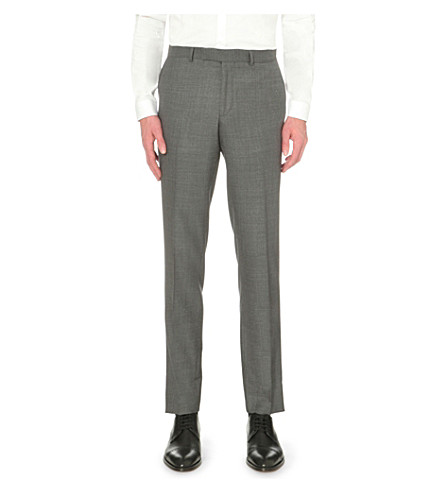 THE KOOPLES Mid-rise tapered wool pants (Grey