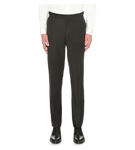 THE KOOPLES Slim-fit tapered wool trousers (Black