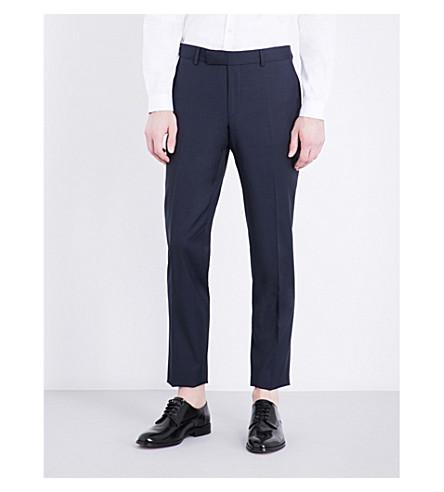 THE KOOPLES Pinstriped slim-fit tapered wool trousers (Nav01