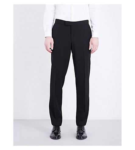 THE KOOPLES Satin-trim classic-fit wool trousers (Bla01