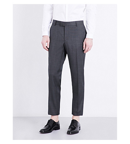THE KOOPLES Slim-fit tapered wool trousers (Gry01
