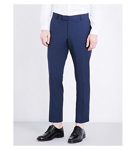 THE KOOPLES Slim-fit tapered wool trousers (Blu01