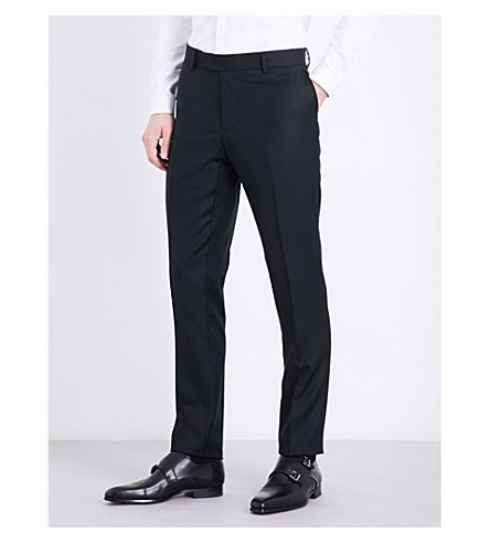 THE KOOPLES Slim-fit straight wool trousers (Bla01
