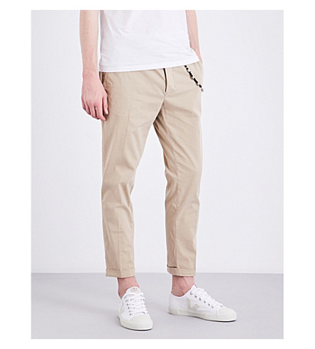 THE KOOPLES Slim-fit tapered stretch-cotton trousers (Bei01