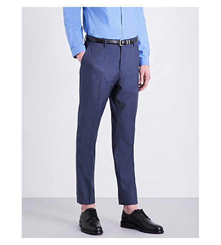 THE KOOPLES Slim-fit tapered wool trousers (Blu01
