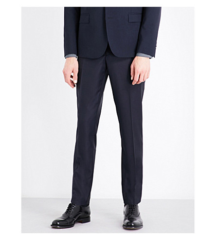 THE KOOPLES Slim-fit tapered wool trousers (Nav03