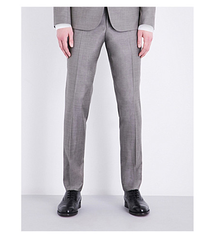 THE KOOPLES Sharkskin slim-fit tapered wool trousers (Cam04