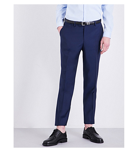 THE KOOPLES Slim-fit tapered wool trousers (Blu29