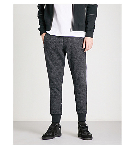 THE KOOPLES Biker-detail cotton-jersey jogging bottoms (Bla73