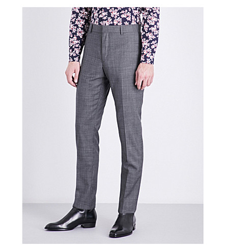 THE KOOPLES Slim-fit tapered wool trousers (Gry13