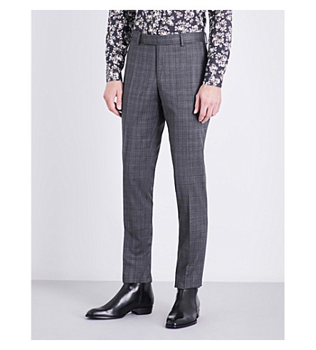 THE KOOPLES Prince of Wales check slim-fit wool trousers (Gry13
