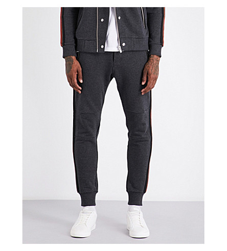 THE KOOPLES SPORT Stripe-panel cotton jogging bottoms (Gry45