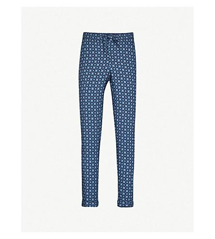 THE KOOPLES Patterned slim-fit twill trousers (Bla99