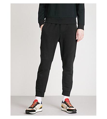 THE KOOPLES Biker-detail cotton-jersey jogging bottoms (Bla01