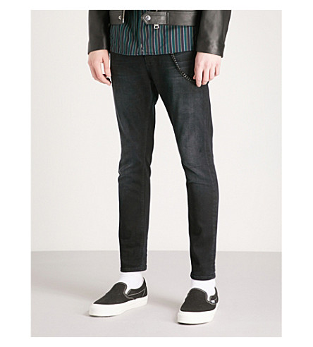 THE KOOPLES Faded slim-fit skinny jeans (Bla01