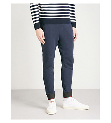 THE KOOPLES Relaxed-fit tapered cotton-jersey jogging bottoms (Nav01