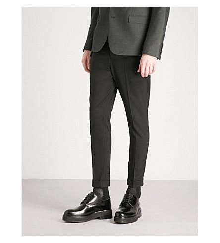 THE KOOPLES Chain stretch-wool trousers (Bla01