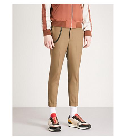 THE KOOPLES Chain stretch-wool trousers (Kak01