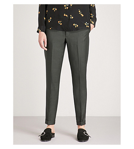 THE KOOPLES Tapered wool and mohair trousers (Kak01