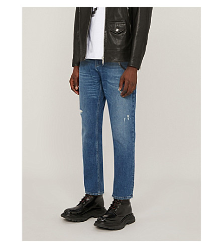 THE KOOPLES Cropped straight-leg mid-rise jeans (Blu88