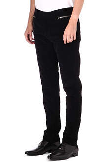 THE KOOPLES Slim-fit needlecord velvet trousers