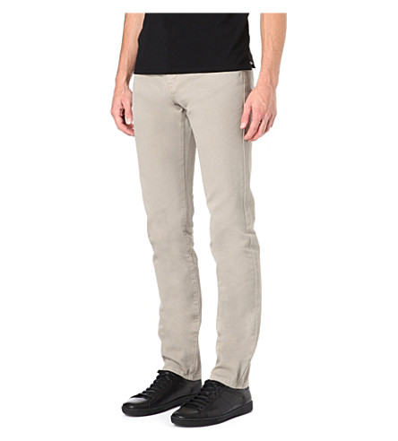 THE KOOPLES SPORT Regular-fit tapered jeans (Beige