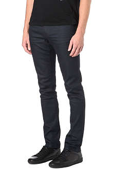 THE KOOPLES Slim-fit waxed leather-look jeans