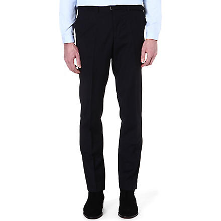 THE KOOPLES Microstriped wool suit trousers (Navy