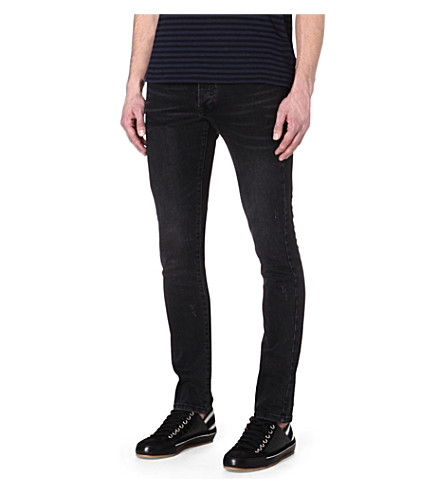 THE KOOPLES Fit cut slim-fit jeans (Grey
