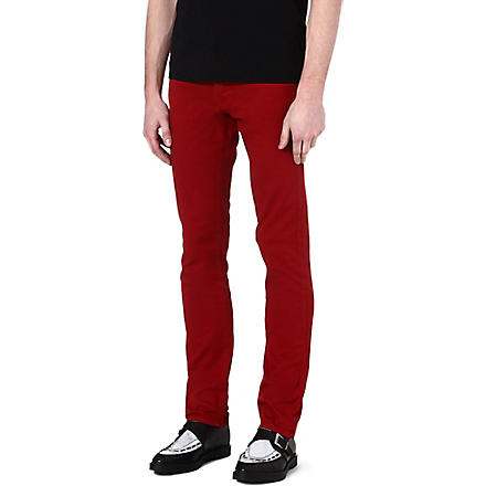 THE KOOPLES Coloured regular-fit tapered jeans (Red