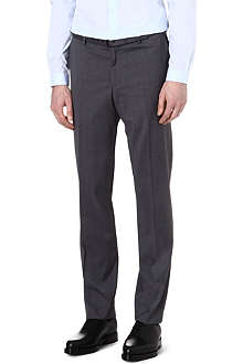 THE KOOPLES End-on-end cotton regular-fit suit trousers