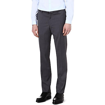 THE KOOPLES End-on-end cotton regular-fit suit trousers (Grey