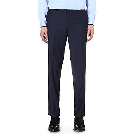 THE KOOPLES Tapered wool trousers (Blue