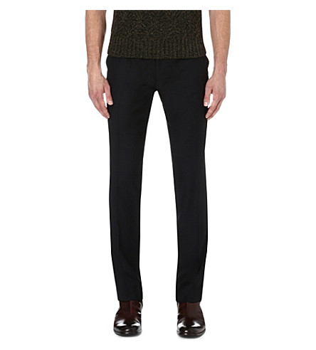 THE KOOPLES Straight wool trousers (Black