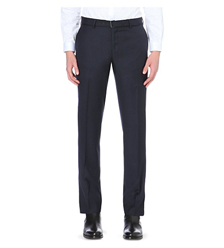 THE KOOPLES Slim-fit wool trousers (Dark+navy
