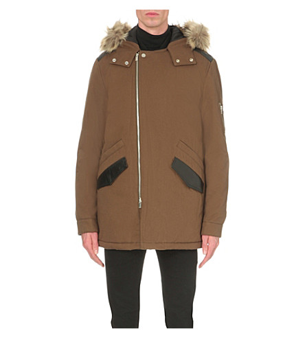 THE KOOPLES Hooded cotton parka coat (Kaki