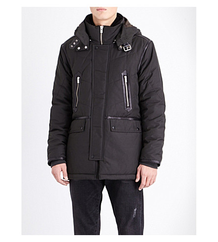 THE KOOPLES Hooded shell parka coat (Kaki