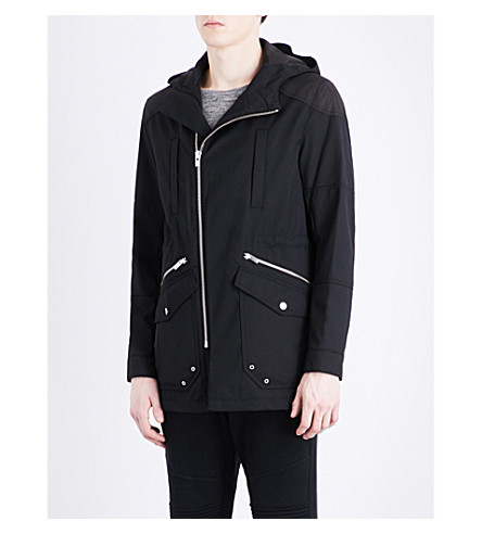 THE KOOPLES SPORT Patch-detail regular-fit parka jacket (Bla01