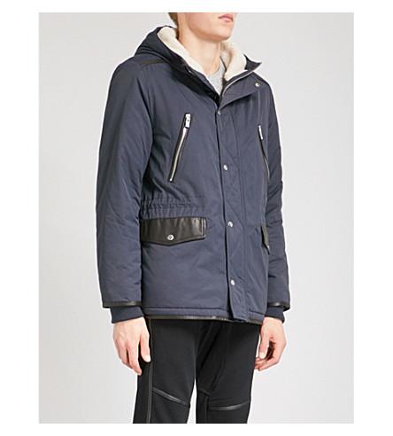 THE KOOPLES Two-tone cotton-blend parka coat (Nav43