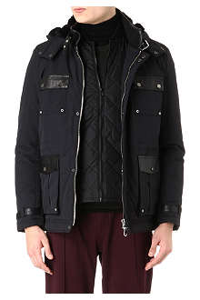 THE KOOPLES SPORT Leather-detailed parka jacket