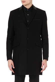 THE KOOPLES Straight-cut wool and cashmere coat
