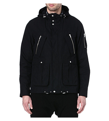 THE KOOPLES SPORT Short parka with detachable gingham lining (Black