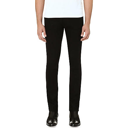 THE KOOPLES Stretch-denim skinny-fit tapered jeans (Black