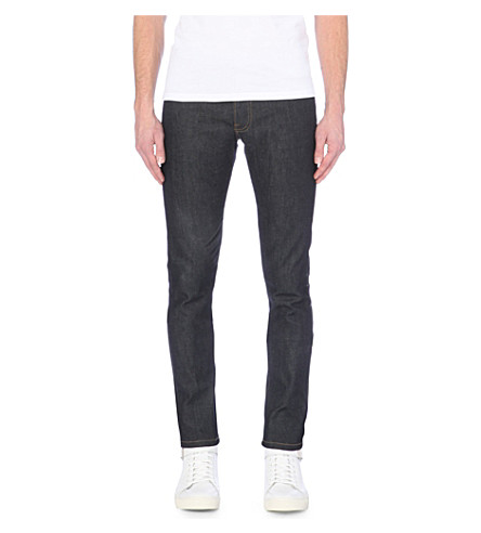 THE KOOPLES SPORT Slim-fit stretch-denim tapered jeans (Blue+brut