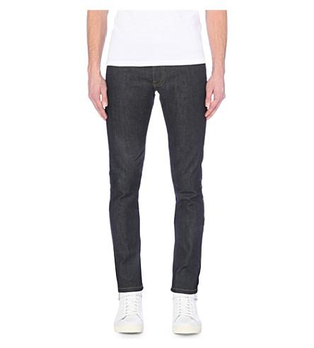 THE KOOPLES SPORT Slim-fit stretch-denim tapered jeans (Blue+brut