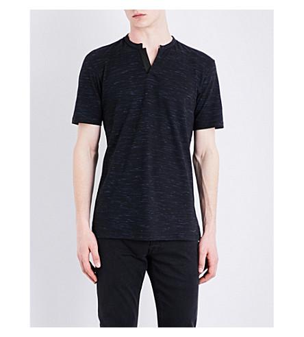 THE KOOPLES V-shaped neckline cotton-jersey T-shirt (Blu44